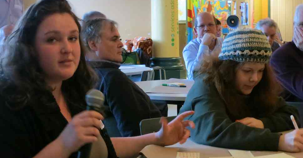 Participants à Imaginons un Fab Lab à La Pocatière