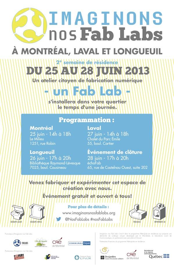 Invitation semaine 2: Imaginons nos Fab Labs